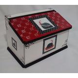 Caixa Porta Pão Mdf Organizador Decoração Cozinha Galinha