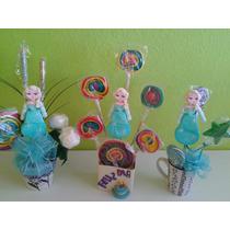Paquete De 10 Paletas De Bombon Frozen Fiesta Infantil Niña+