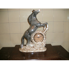 Estatueta Equestre Antiga Relógio A Corda (254)