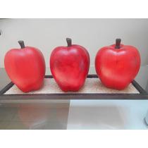 Jgo De Manzanas De Ceramica Pintadas A Mano Con Envio