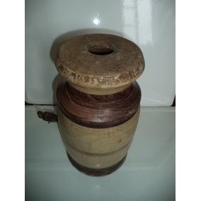 Pipa Antiga Agua/cachaça Em Madeira/destilaria