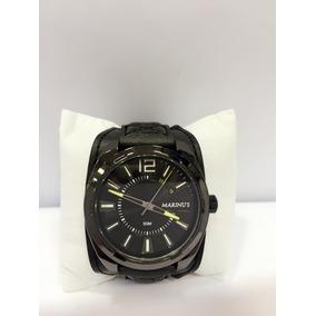 Relógio Masculino Bracelete De Couro Luxo Pronta Entrega
