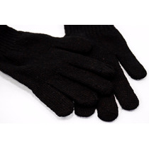 Luva Inverno Frio Masculina Adulto Lã Preta G