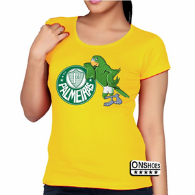 Baby Look Palmeiras - Camisetas e Blusas Manga Curta para Feminino ... 5650b6632d760