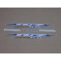 Kit Adesivos Faixas Honda Biz 125 Ks 2006 - Prata
