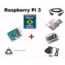 Kit Raspberry Pi 3 Pi3 Emuladores Recalbox +6000 Jogos