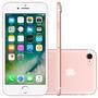 Celular Barato Iphone 7 256gb Selfie 7 Mp Rosa Ios S/ Juros