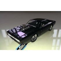 1:24 Dodge Charger 1970 Negro Rapido Y Furioso Jada Display