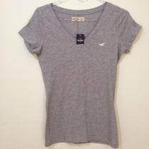 Camiseta Roupa Feminina Da Hollister Camisa Original Blusa
