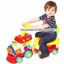 Caminador Andador Bebe Luces Sonidos Tren C/ Respaldo Pelela