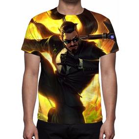 Camisa, Camiseta League Of Legends - Xin Zhao Agente Secreto