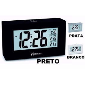 2972 Relógio Despertador Iluminação Permanente Noturn Herweg