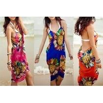 Hermosos Pareos Tipo Vestido Unitalla 3 Colores Disponibles