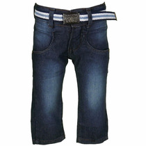 Calça Jeans Com Regulagem No Cós E Cinto - Tom Ery