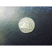 America Central Guatemala Moneda De 1/4 De Real Fecha 1843