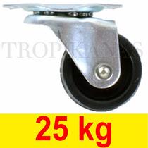 Roda Para Suporte Vasos E Móveis Anti Risco Anti Ruido 25 Kg