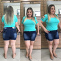 Shorts Bermuda Jeans Plus Size Exclusivo Lycra Sem Juros