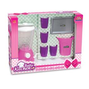 Kit Mini Liquidificador De Brinquedo Infantil Usual Plastic