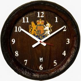 Relógio Barril Decorativo De Parede Horário Números