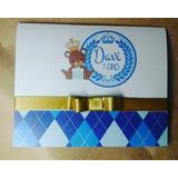 Convites Infantil 30un Principe Urso Menino Lindo Barato