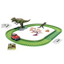 Pista Dino Mundi Furia T-rex 120 Pecas 79223 Fun