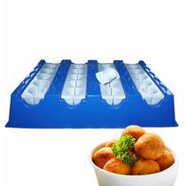 Forma Fábrica Bolinhas Bacalhau Carne Salgados Kit Modelador