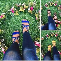 10 Pares De Huarache Moda Mujer Dama Sandalia