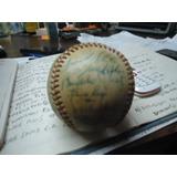 Pelota De Beisbol Autografiada Por Los Leones Del Caracas