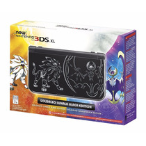 New 3ds Xl Solgaleo Lunala Black Edition Pokemon Nintendo