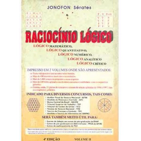 Livro Raciocínio Lógico Volume Ii - Jonofon Sérates
