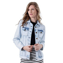 Jaqueta Jeans Oversized Feminina Brenda Lee