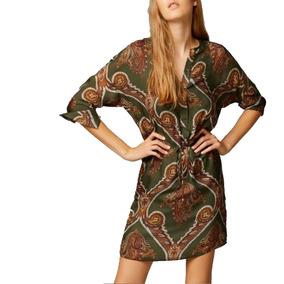 Vestido Vestidos Sexy Estampado Tipo Seda Varios Colores