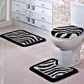 Kit De 3 Pecas Jogo Banheiro Antiderrapante Tapertart