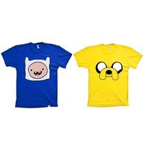 Combo De Camisetas Infantis Hora De Aventura - Finn E Jake
