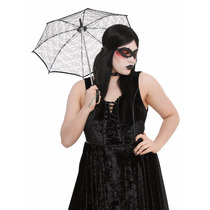Sombrilla Encaje Negro 53cm Diametro Hot Topic Gotico Dark