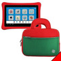 Kozmicc Rojo/verde Niños Nabi 2 Tablet Pocket Bolso Caso Cu