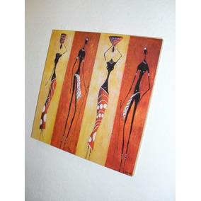 Cuadros Arte Moderno Pictorico - Negras Africanas - 20x20