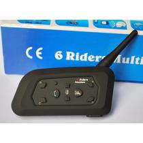 Intercomunicador Moto Bluetooth V6 El Mejor! X1