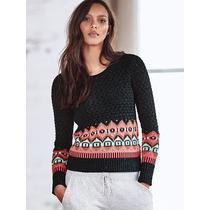 Sweater Petroleo Coral Guardas S-m Victoria