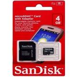 Cartao De Memoria 4g San Disk Com Adaptador!!