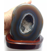 Ágata Marrom Geodo Pedra Brasileira Natural Excelente 1135g