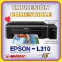 Impresora Epson L310 + 480ml Tinta Comestible + 100 Obleas
