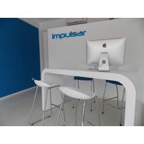Escritorio Moderno Mueble Laqueado Mesa Con Curvas