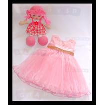 Vestido De Festa Infantil Tema Peppa Pig - Modelo Luxo