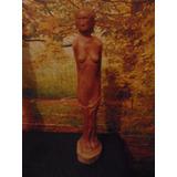 Escultura Madera Rara De Desnudo Femenino Fecundidad Chica