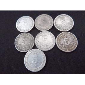 Moneda 5 Centavos Porfirianos 1906 1907 1909 1910 Lote De 7
