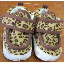 Zapatos Bebe Niña Animal Print Antideslizantes Nuevo