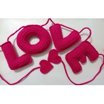 Letras Tejidas Al Crochet, Forma Tu Nombre! Regalo Original!