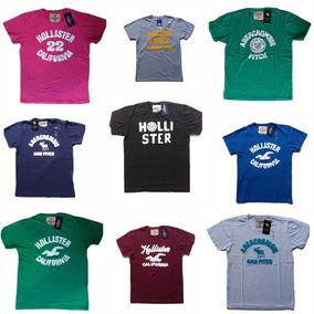 Kit 5 Camisetas Atacado Holister Abercrombie Aeropostale