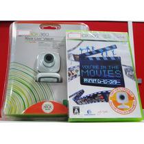 Xbox Live Vision Camera + Jogo Japonês + Headset Xbox 360